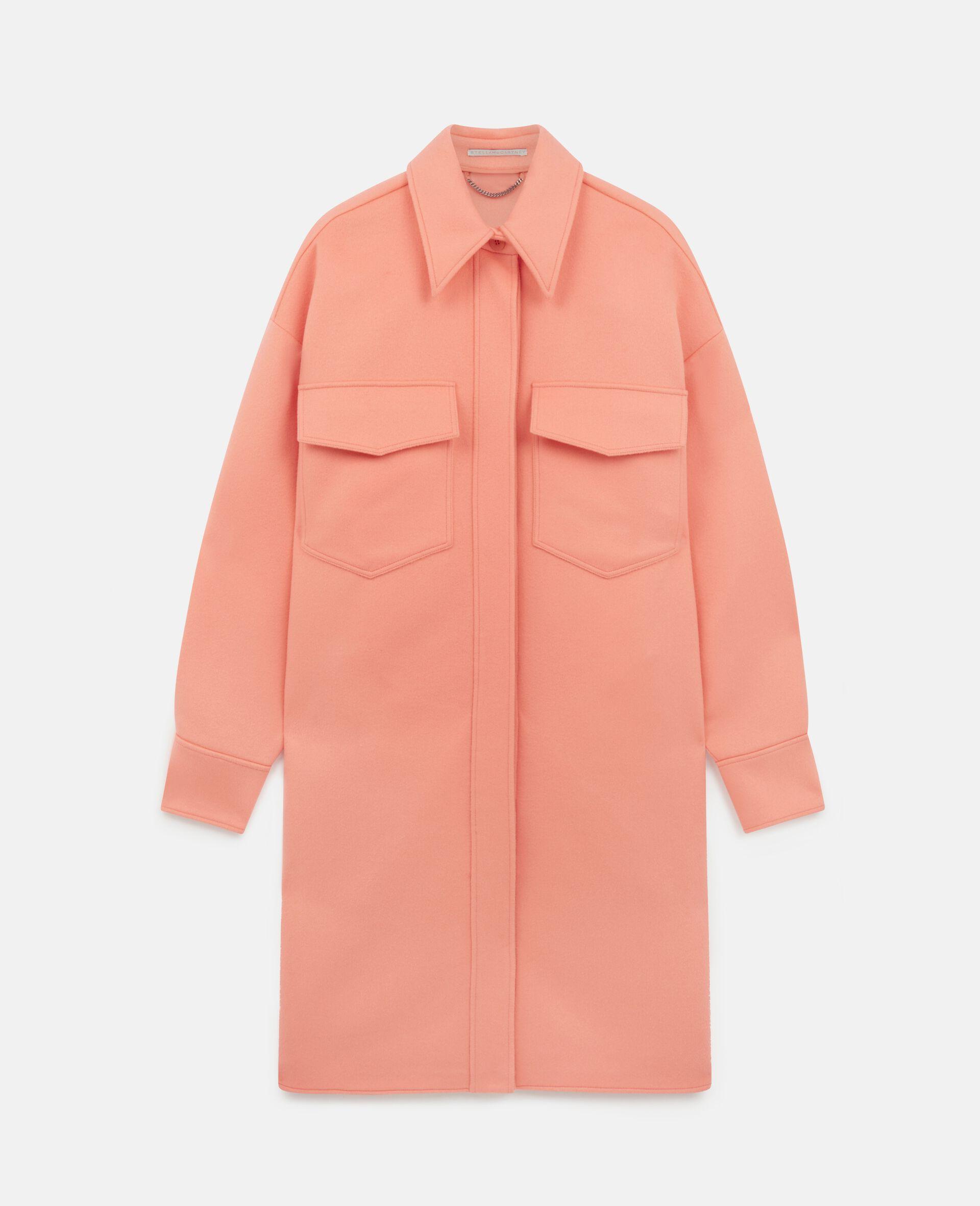 Linda Wool Coat -Orange-large image number 0