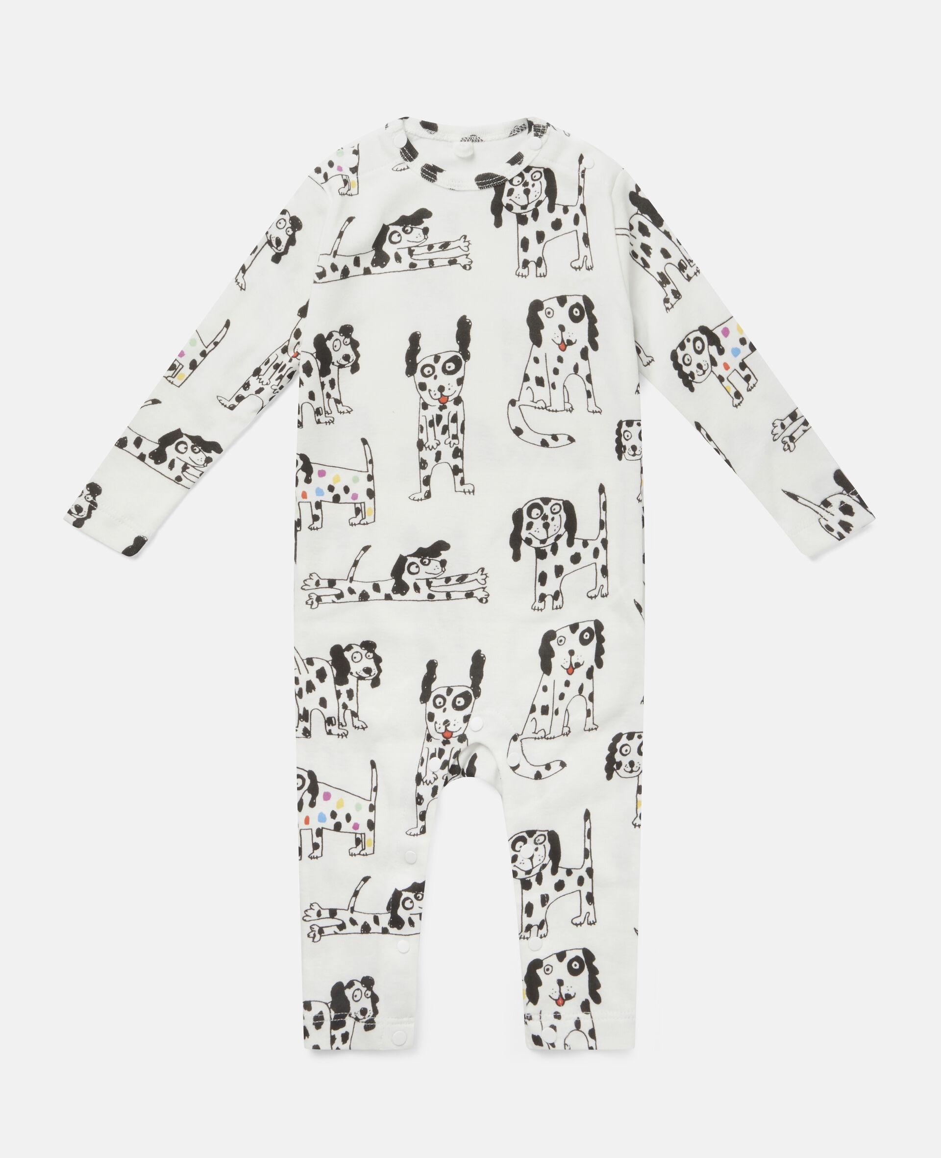 Dalmatian Jersey Rib Babygrow Set-White-large image number 1