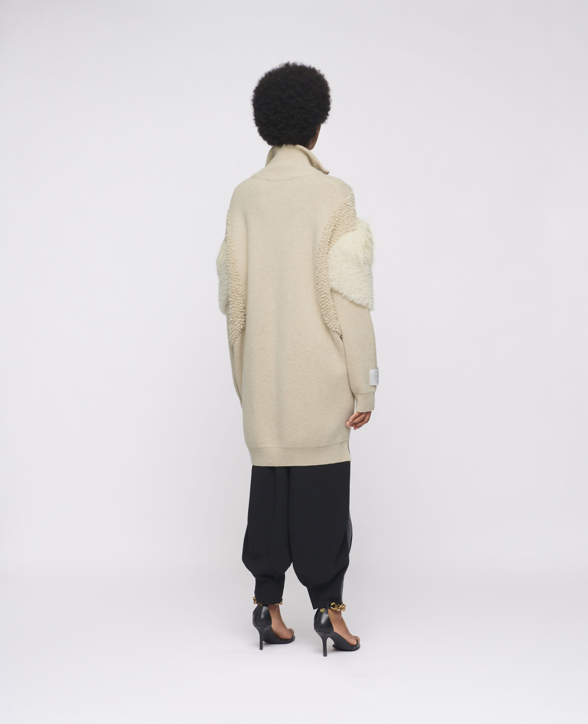 Giacca in Maglia FFF  -Beige-large image number 2