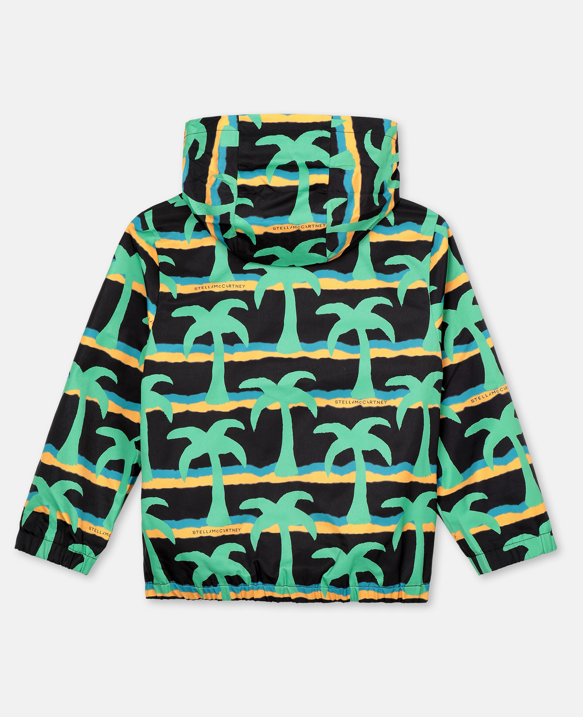 Jacke aus Polyester mit Palmen-Print -Schwarz-large image number 3