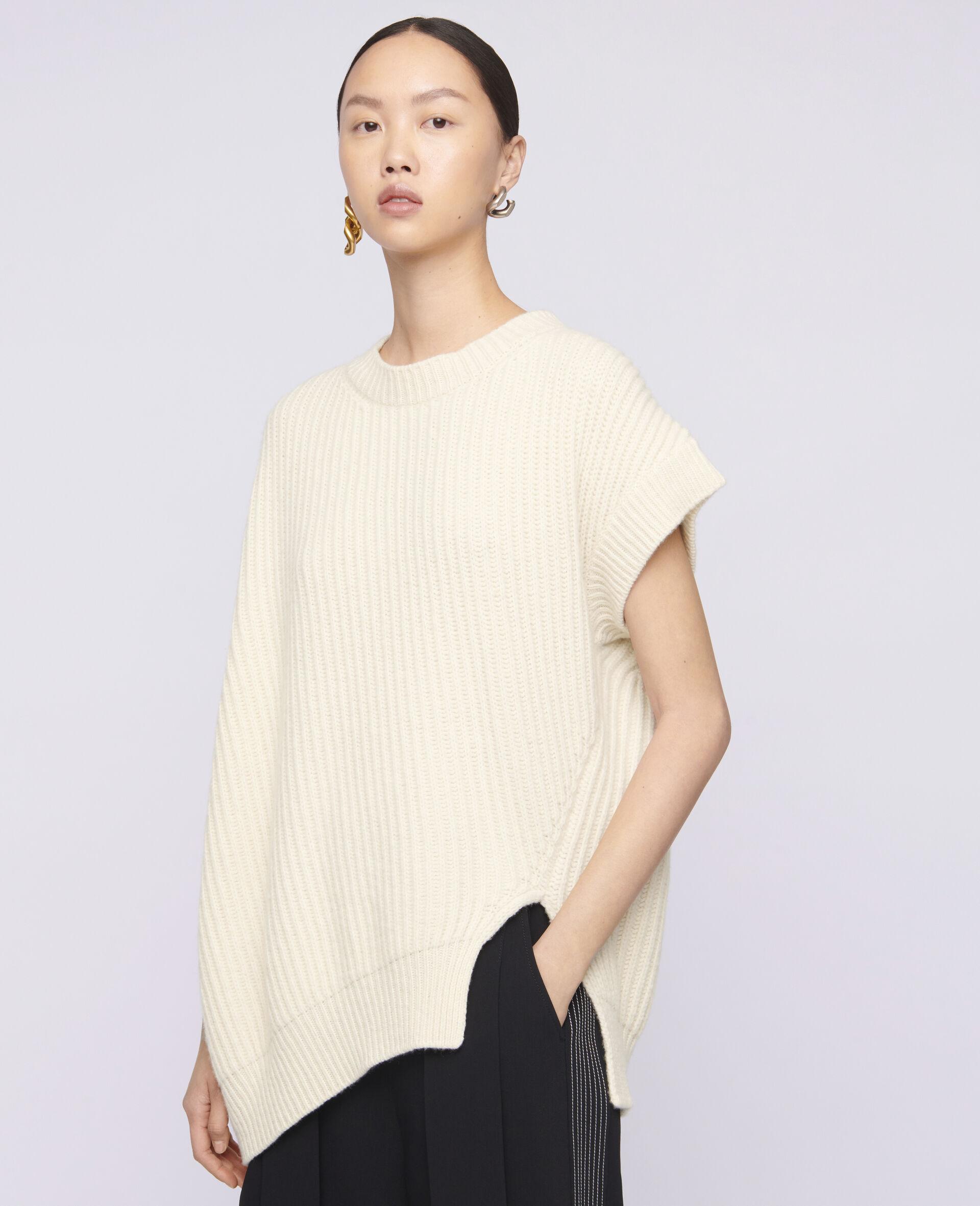 Soft Sleeveless Knit-Beige-large image number 3