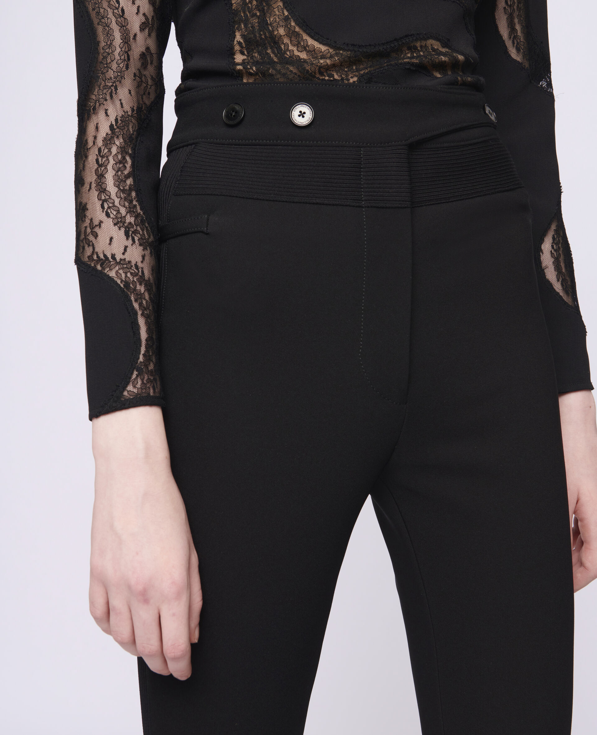 Morgan 贴腿裤-黑色-large image number 3