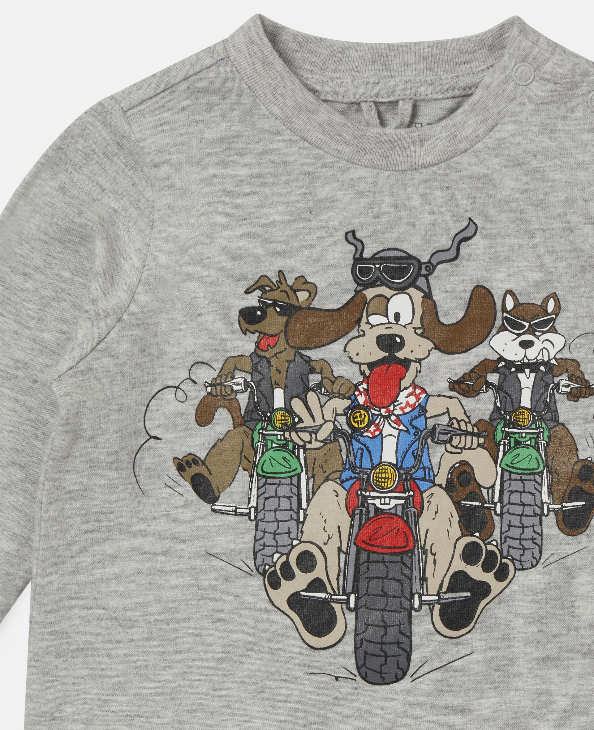 """""""Doggie Riders"""" Oberteil-Grau-large image number 1"""