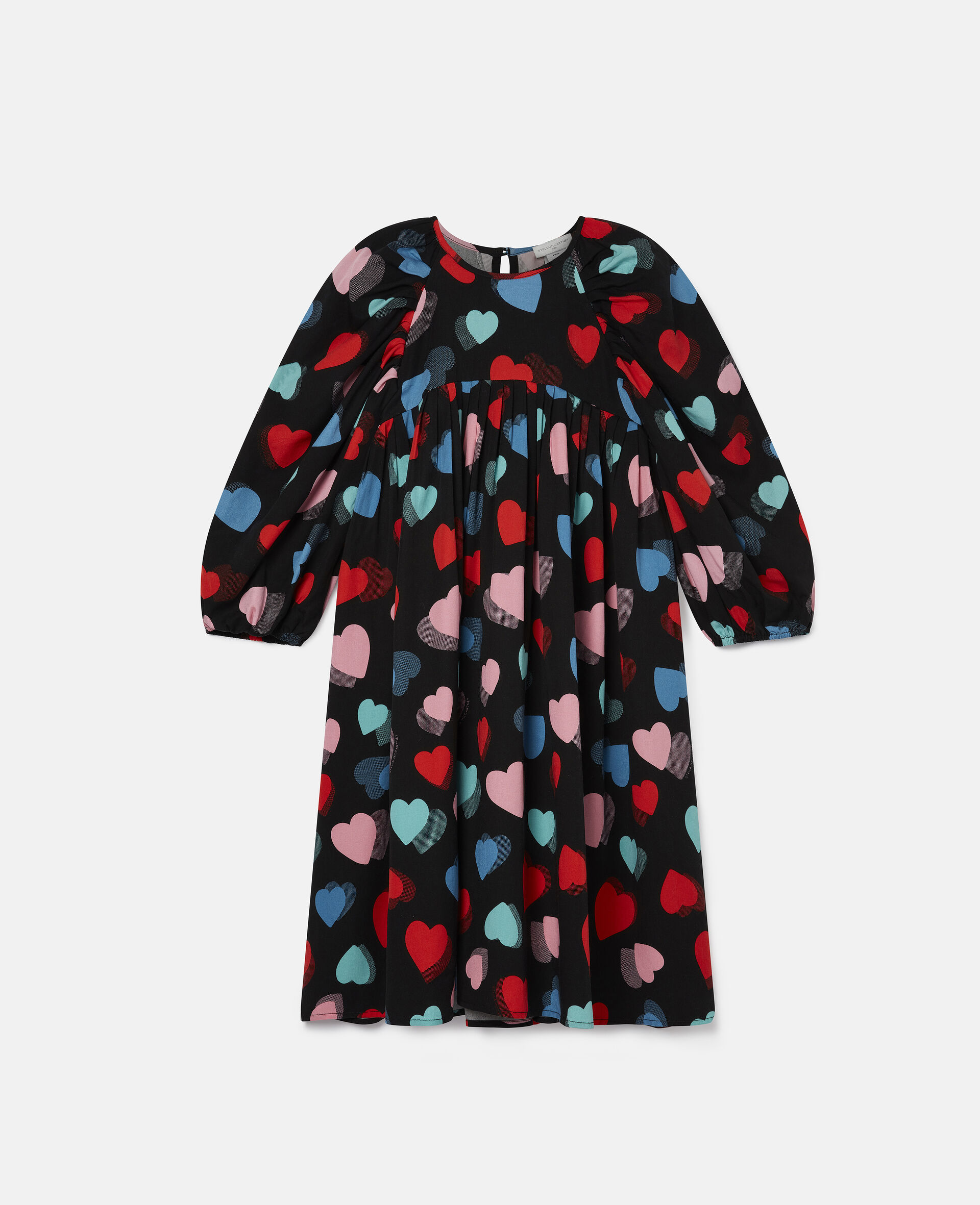 Hearts Tencel Twill Dress-Multicolour-large image number 0