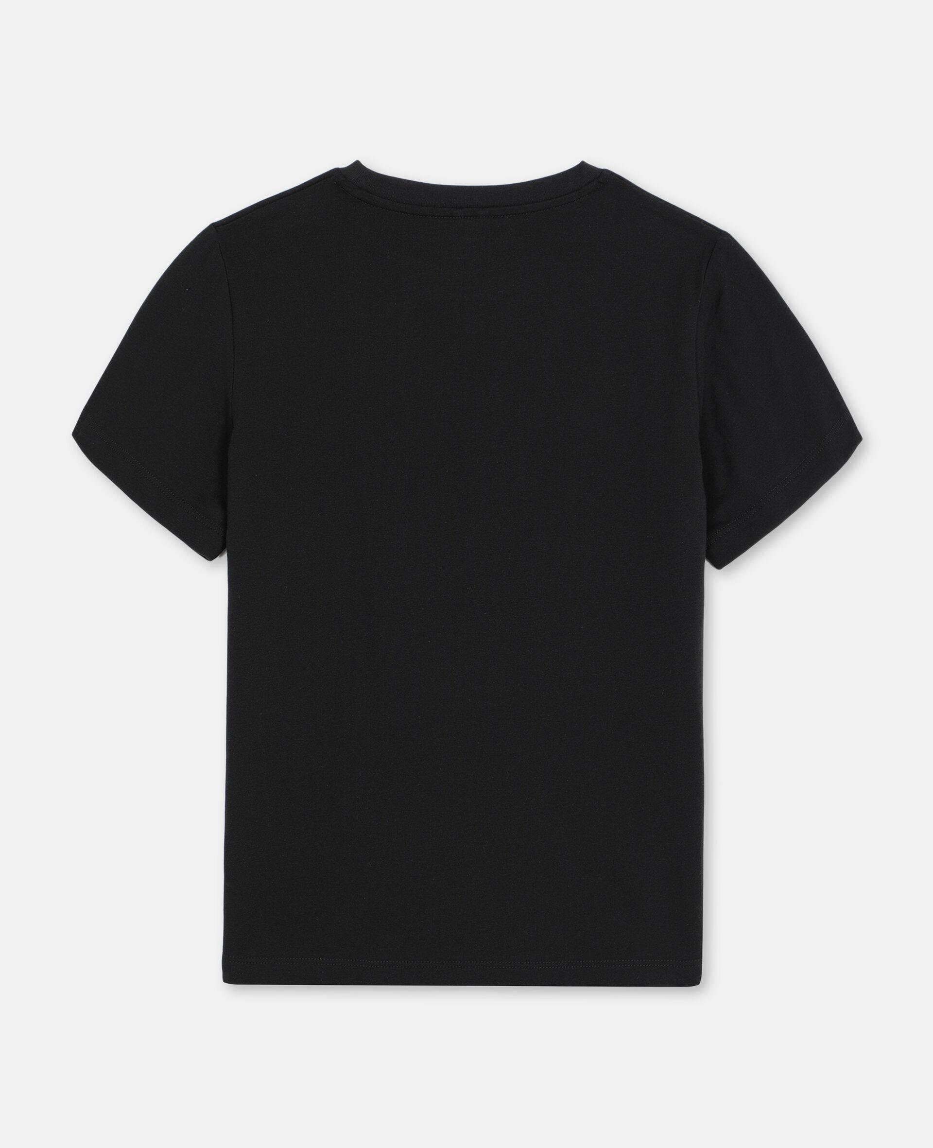 3D Badge Cotton Logo T-shirt-Black-large image number 3