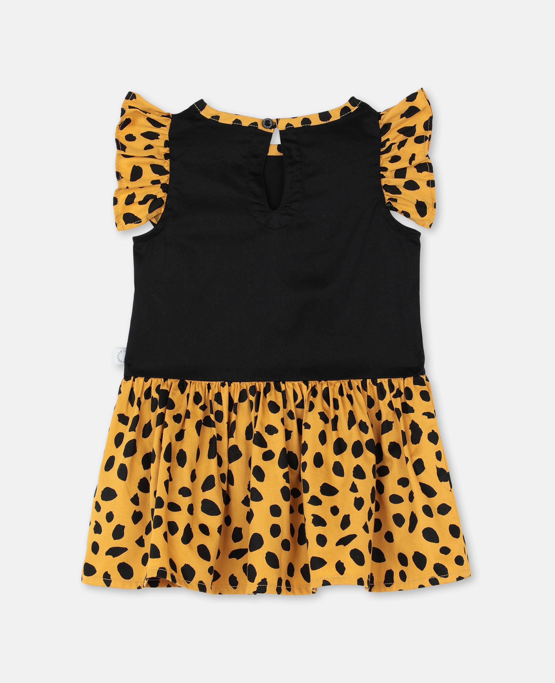 Cheetah Cotton Dress-Black-large image number 3