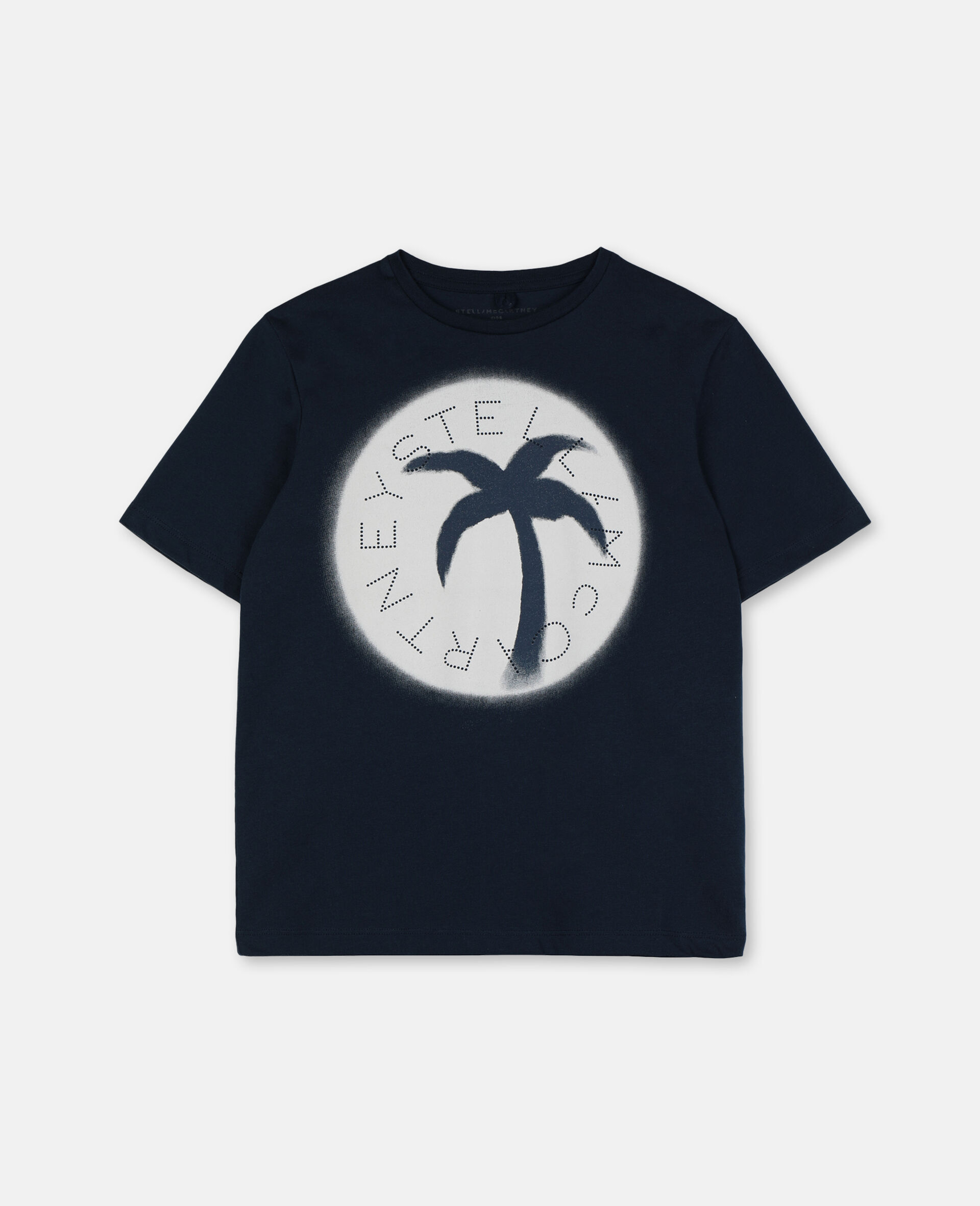 Palm Oversize Cotton Logo T-shirt-Blue-large image number 0