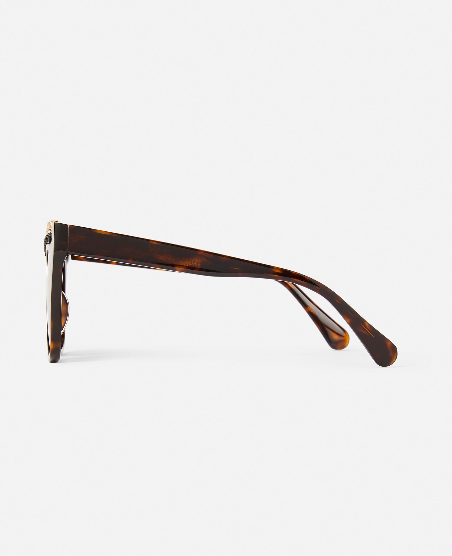 Glänzend schwarze Sonnenbrille mit eckiger Fassung-Schwarz-large image number 3