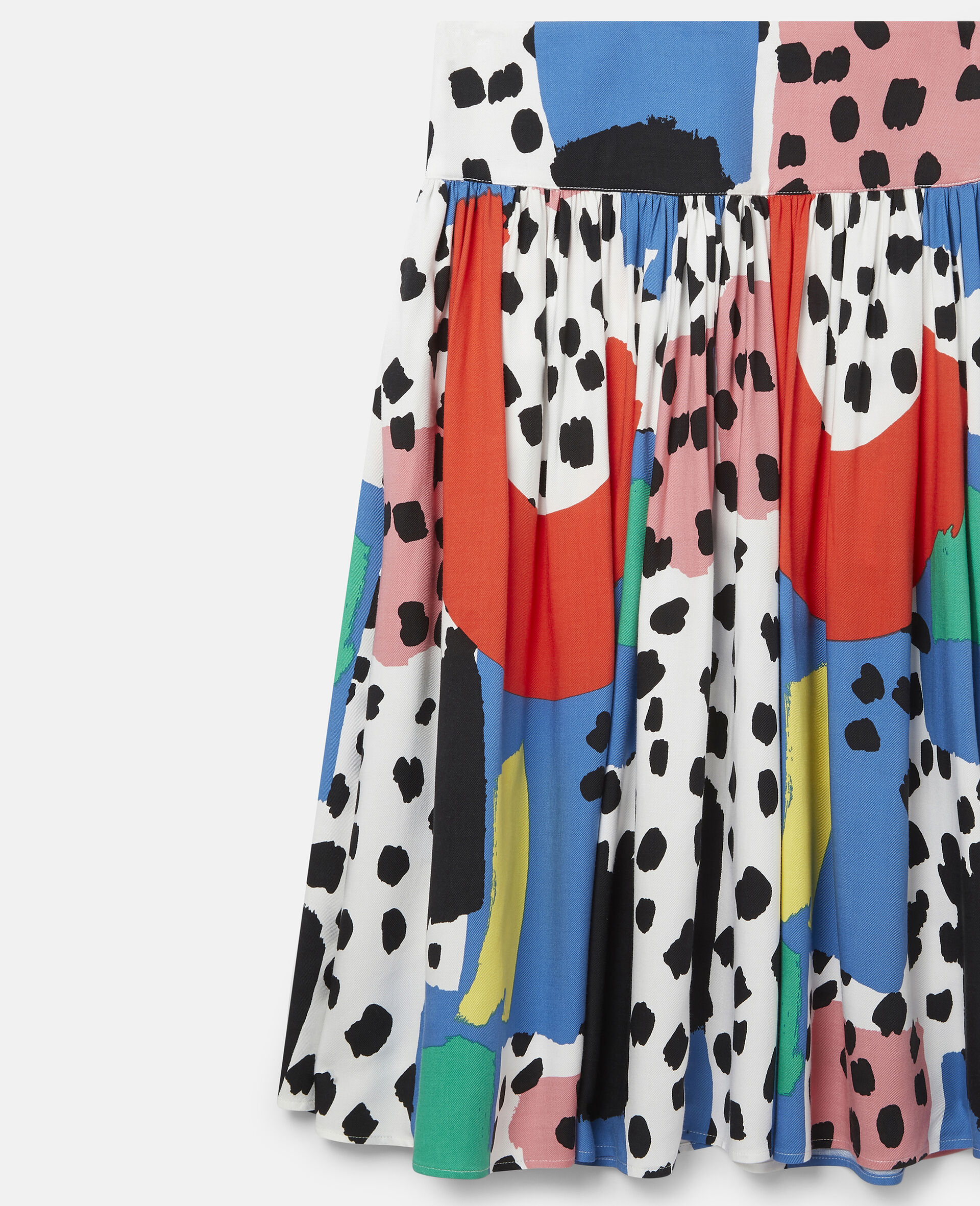 Dalmatian Spots Twill Skirt-Multicolour-large image number 2