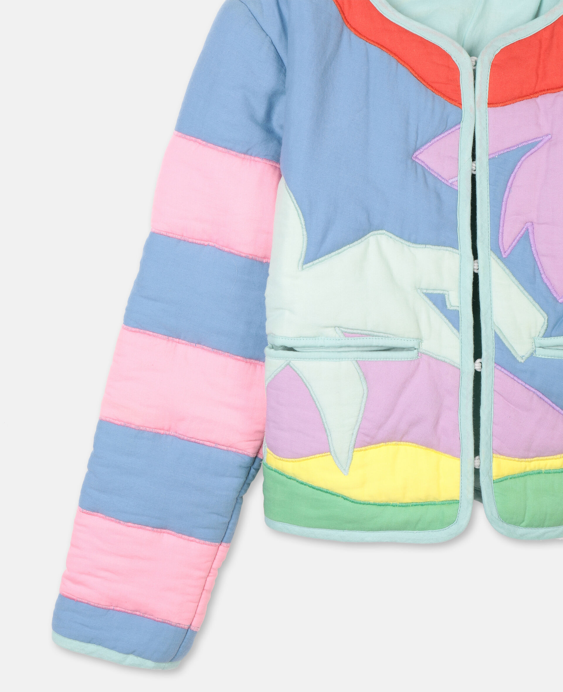 Palms Patches Cotton Jacket -Multicolour-large image number 1
