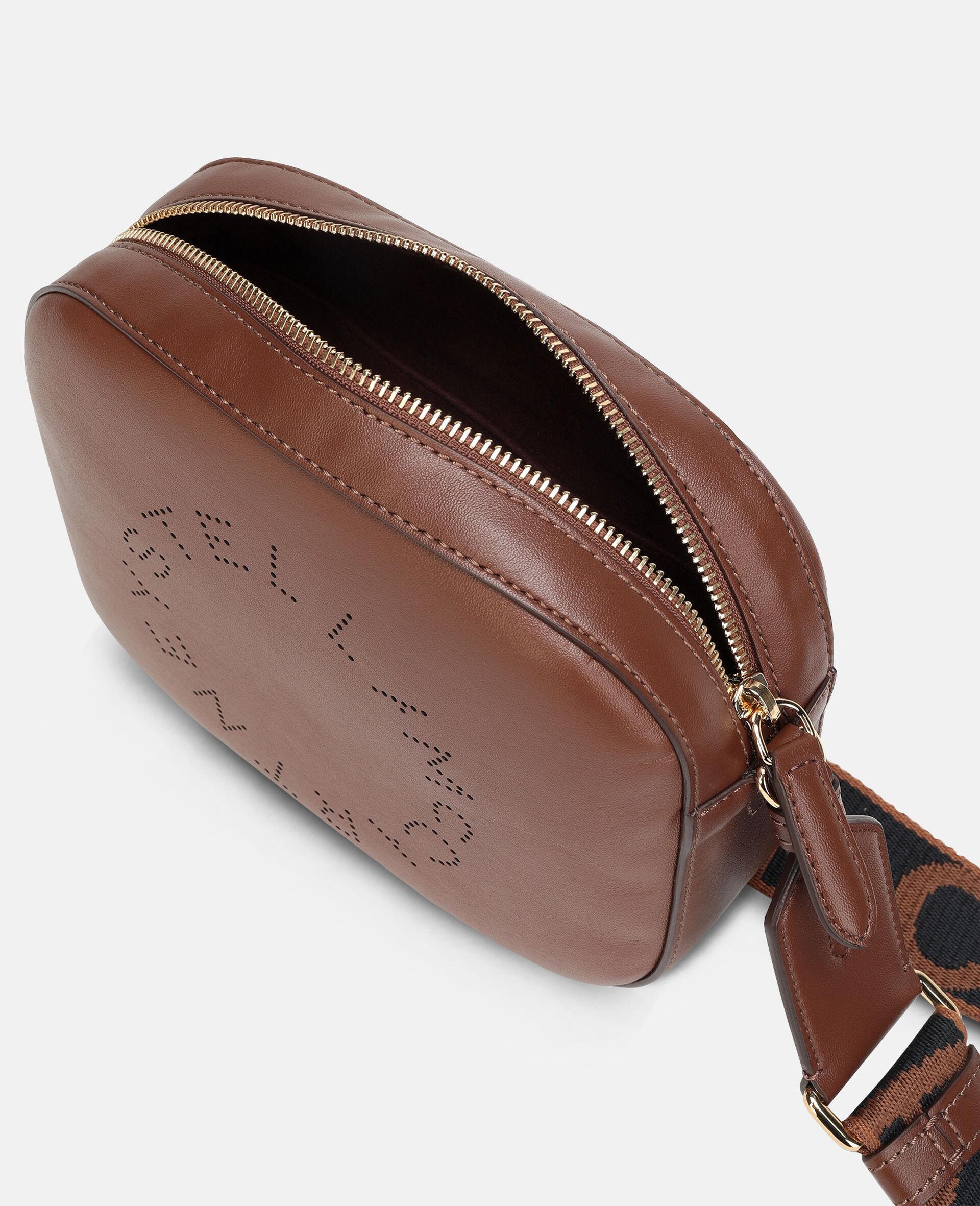 Mini-Tasche mit Stella-Logo-Brown-large image number 3