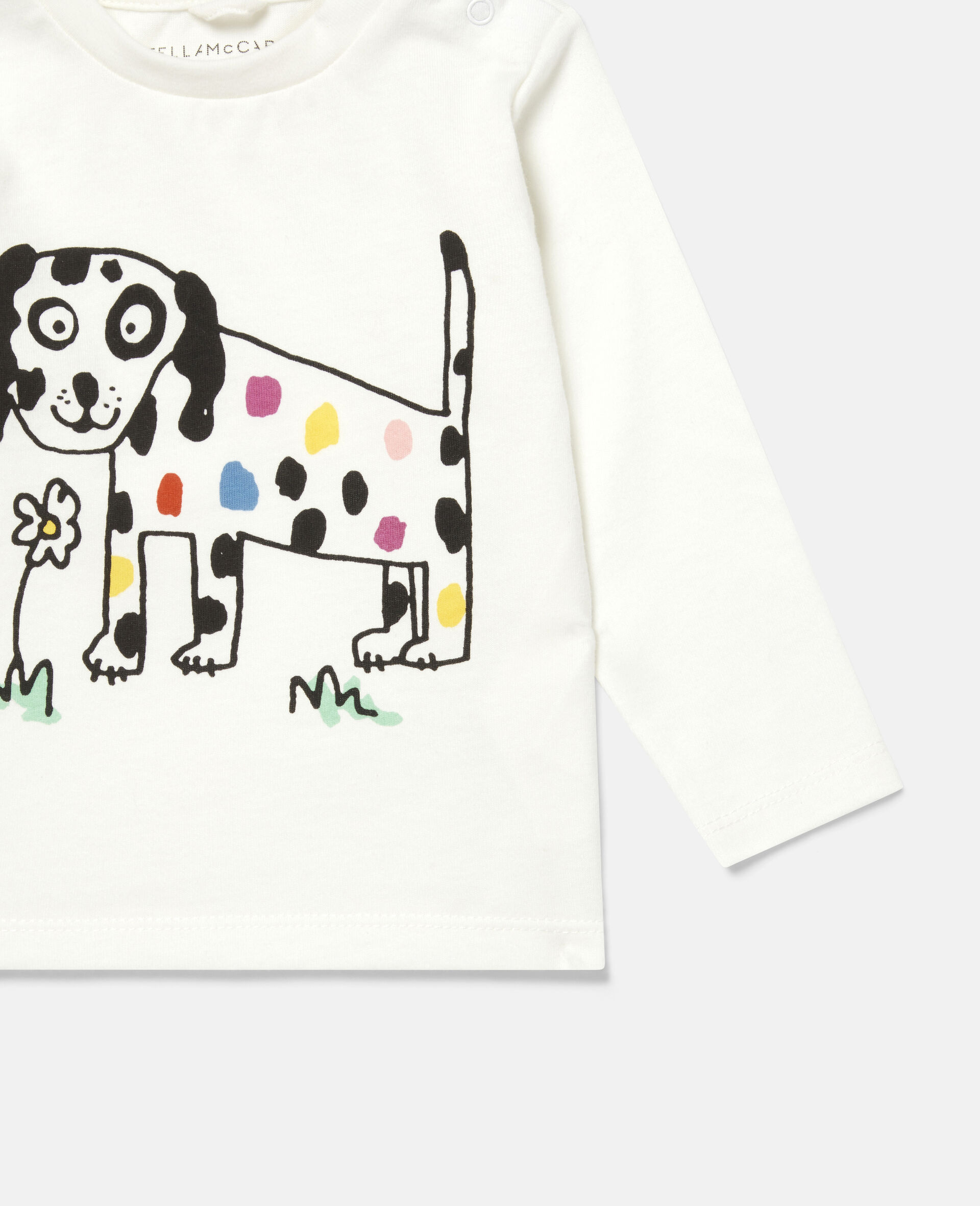 "Oberteil mit ""Flowers Doggie""-Print-Weiß-large image number 2"