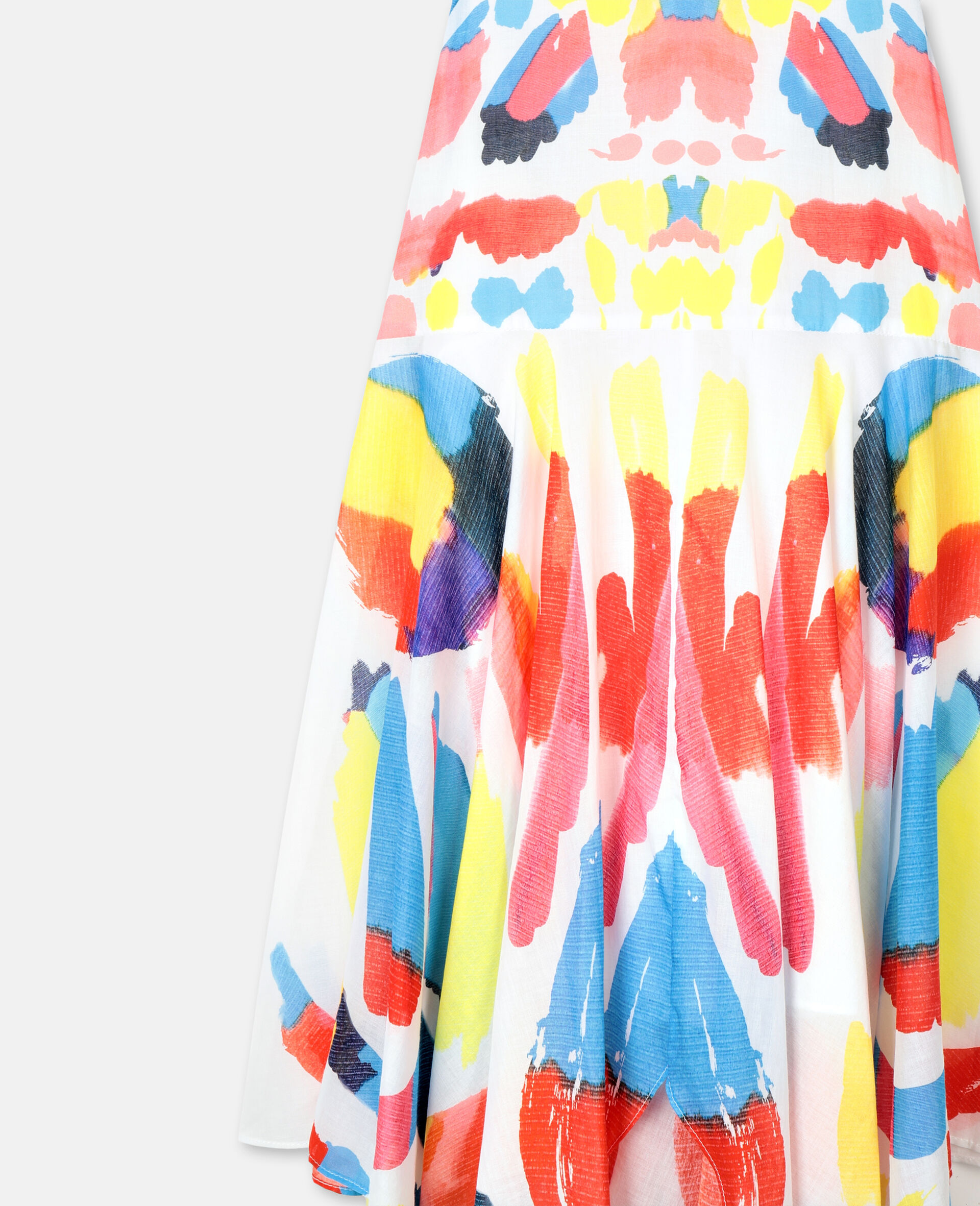 Butterfly Cotton Dress-Multicolour-large image number 1
