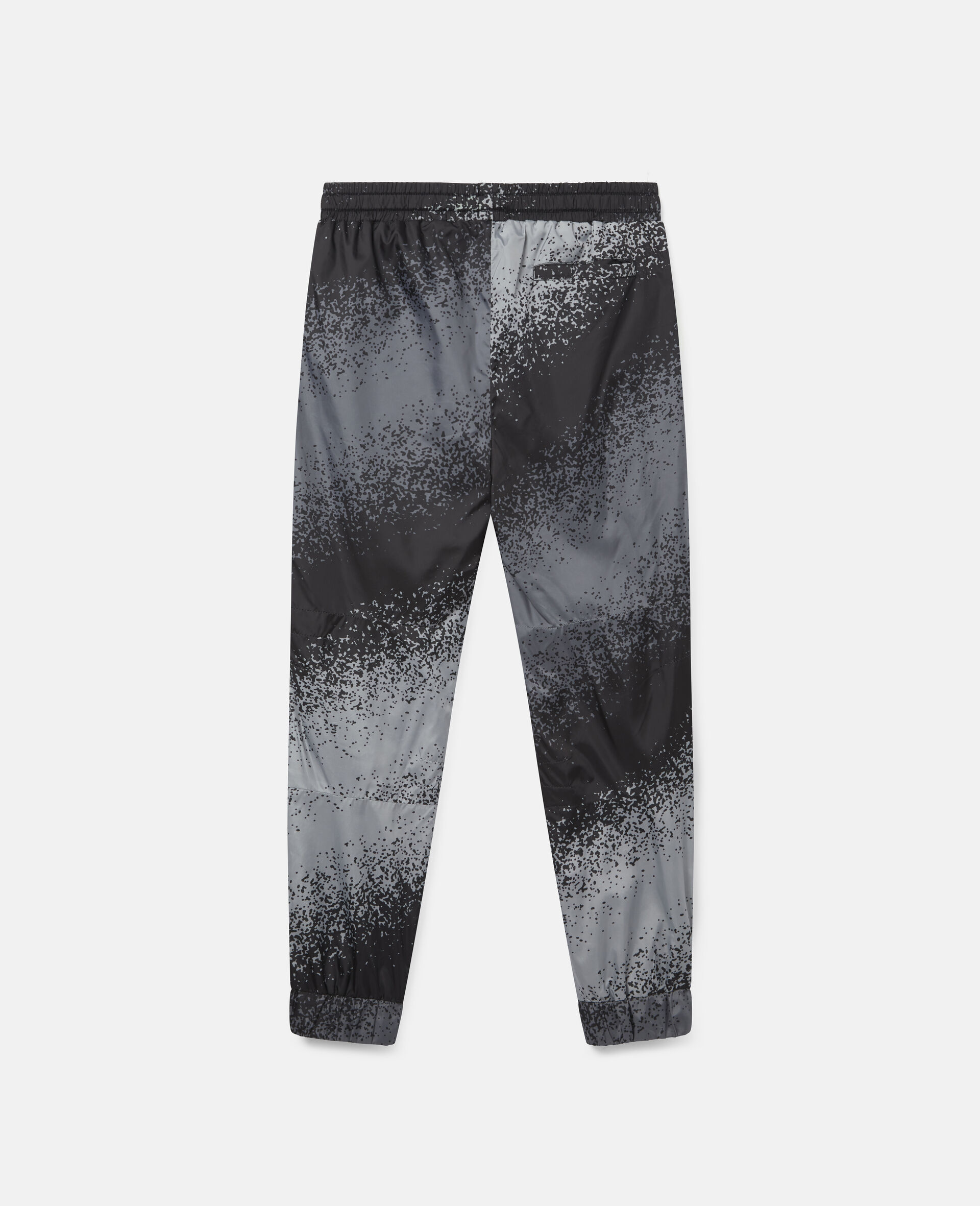 Pantaloni Cargo con Motivo Effetto Spray-Grigio-large image number 3