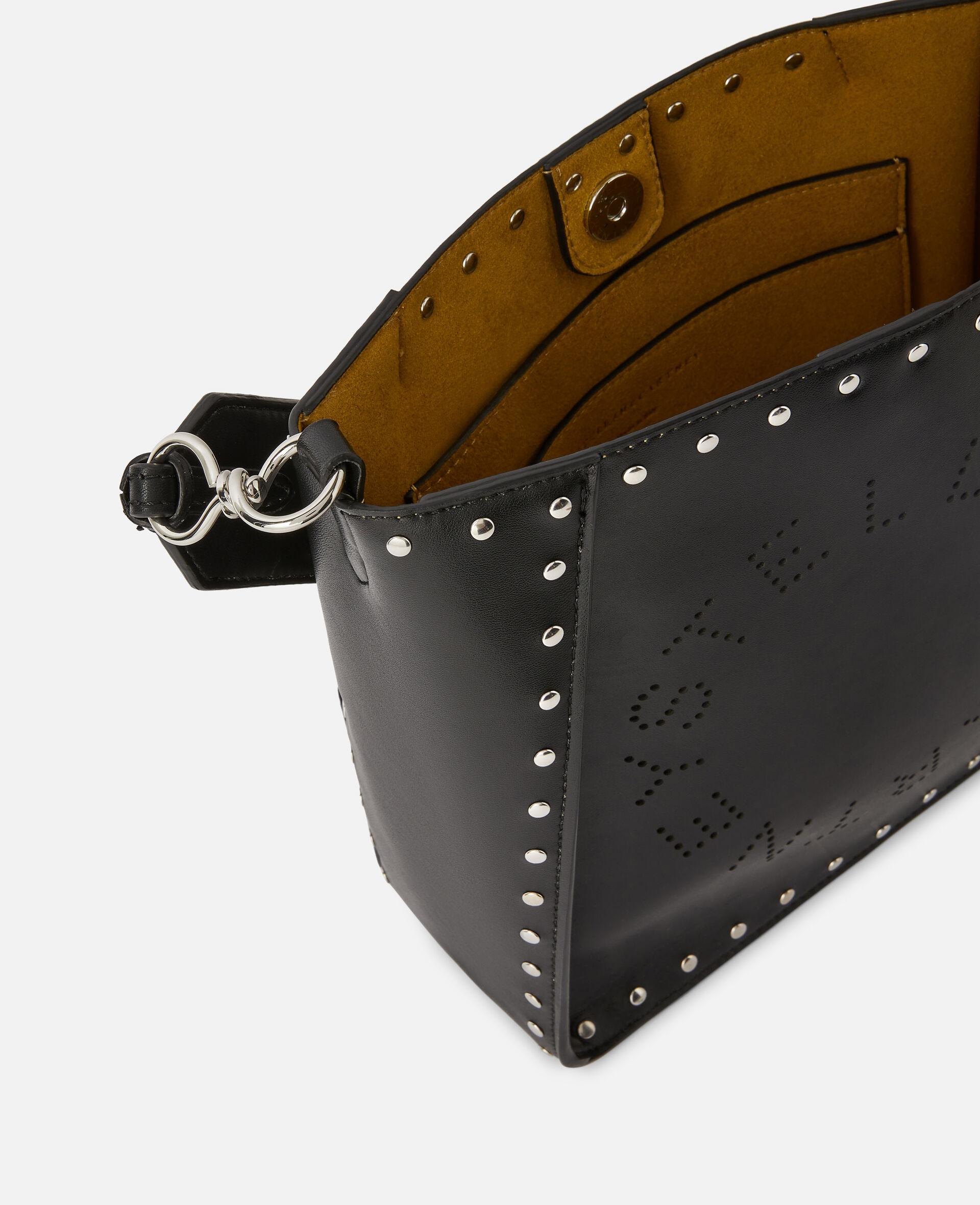 Stella Logo Studded Shoulder Bag-Black-large image number 3
