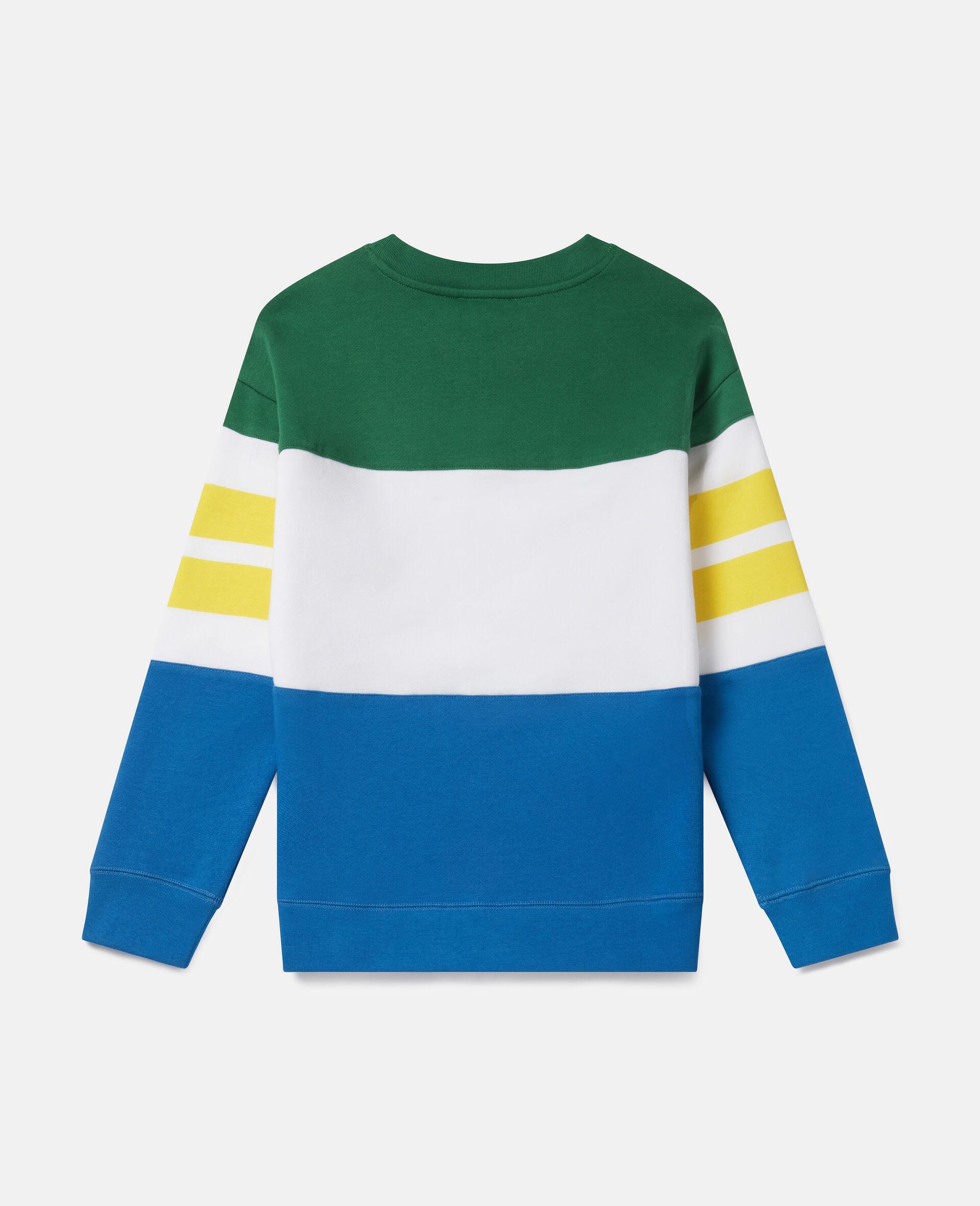 Oversized Logo Fleece Sweatshirt-Multicolour-large image number 3