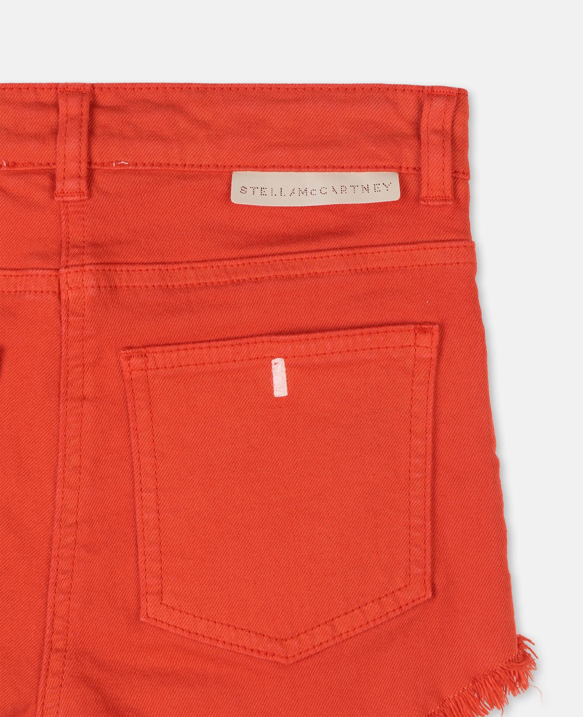 红色牛仔短裤 -红色-large image number 2