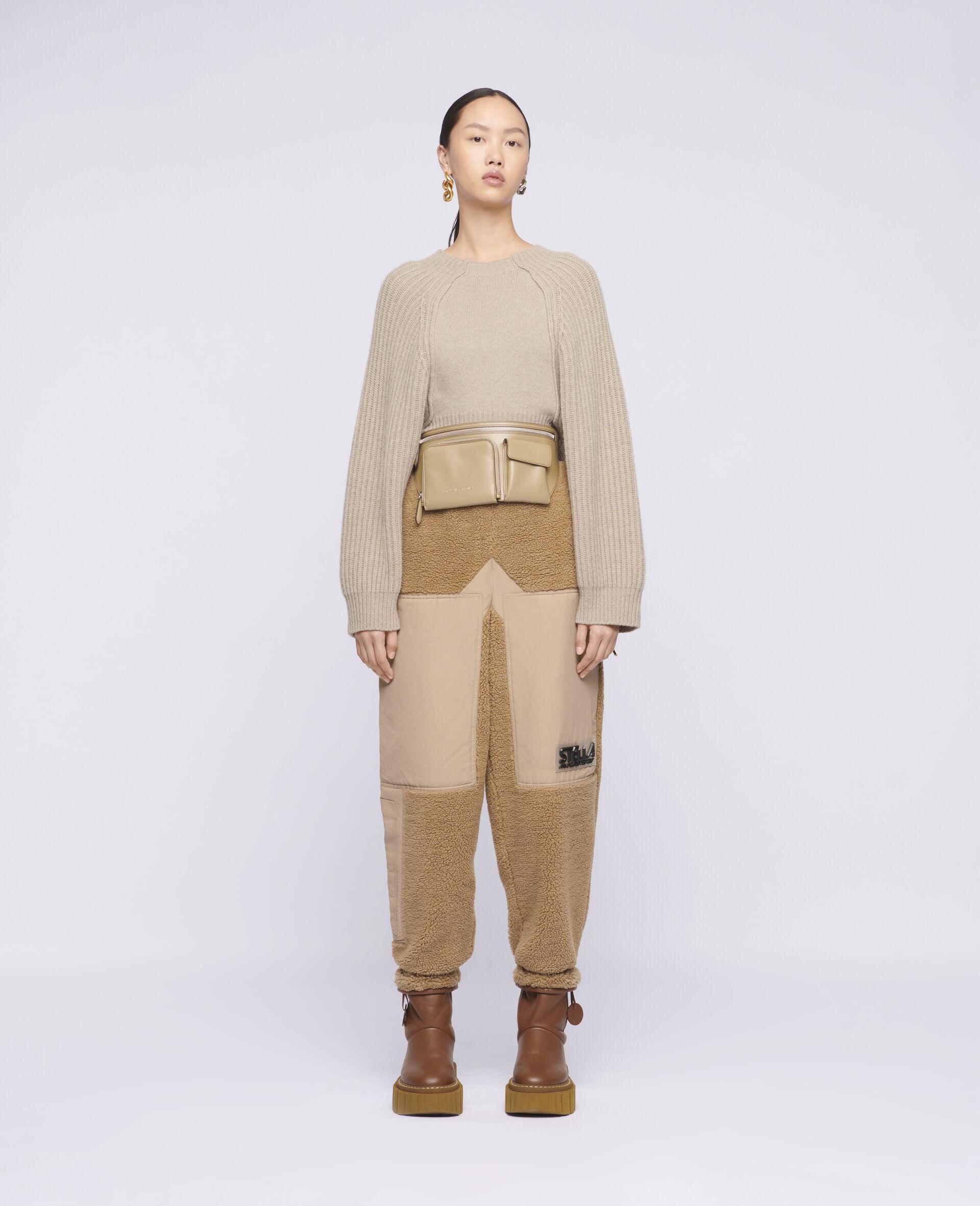 短款针织套衫 -米色-large image number 1